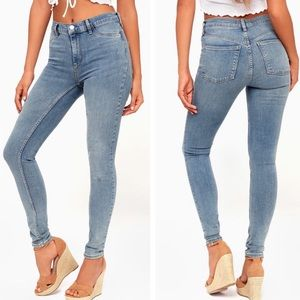 NWT Free People Long and Lean Skinny Jeans Denim